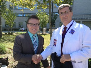 Councilmember James Vacca and Dr. Frank Proscia of Doctors Council at rally